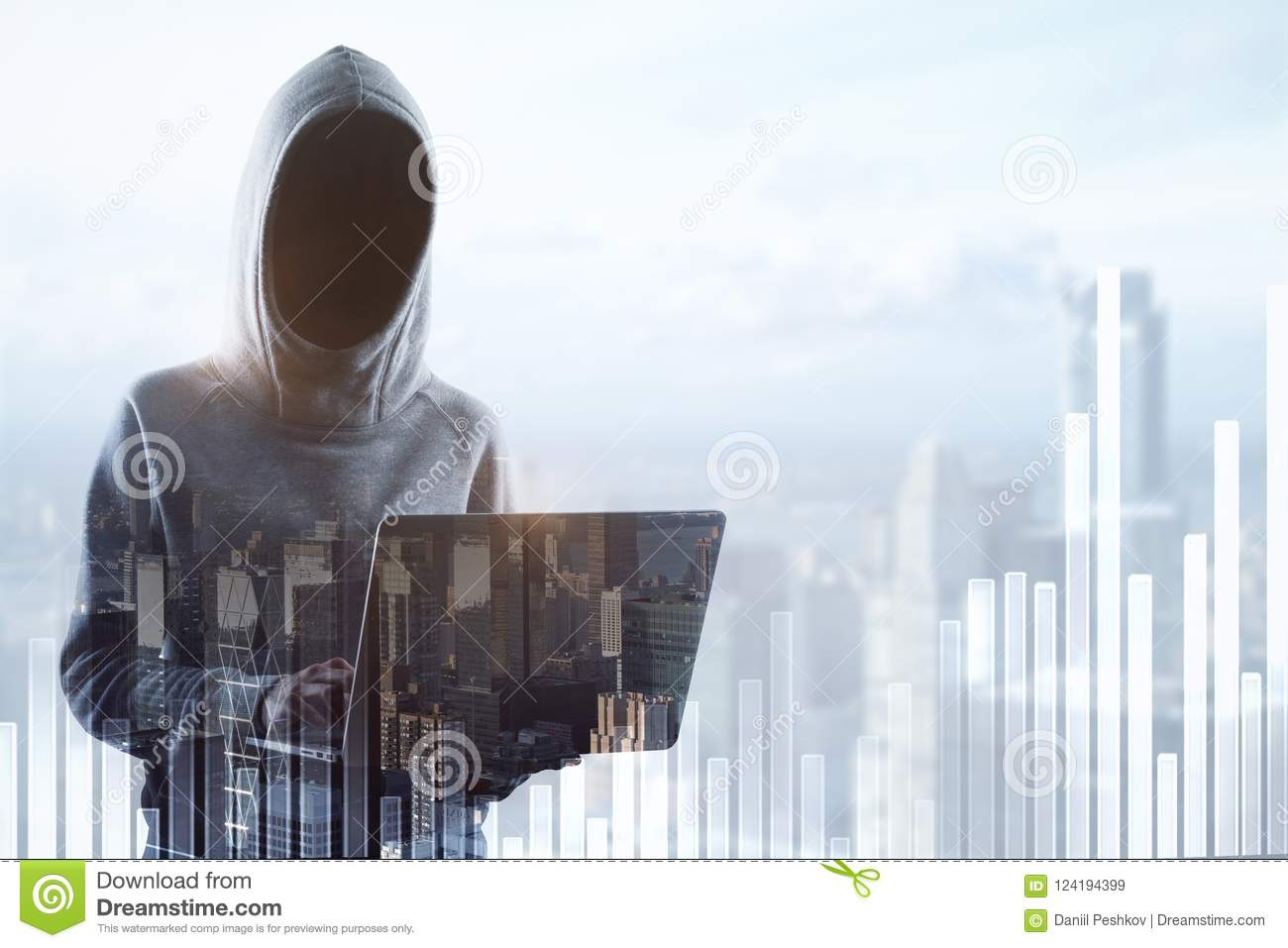 Finance, Hacking And Forex Concept Stock Image - Image of