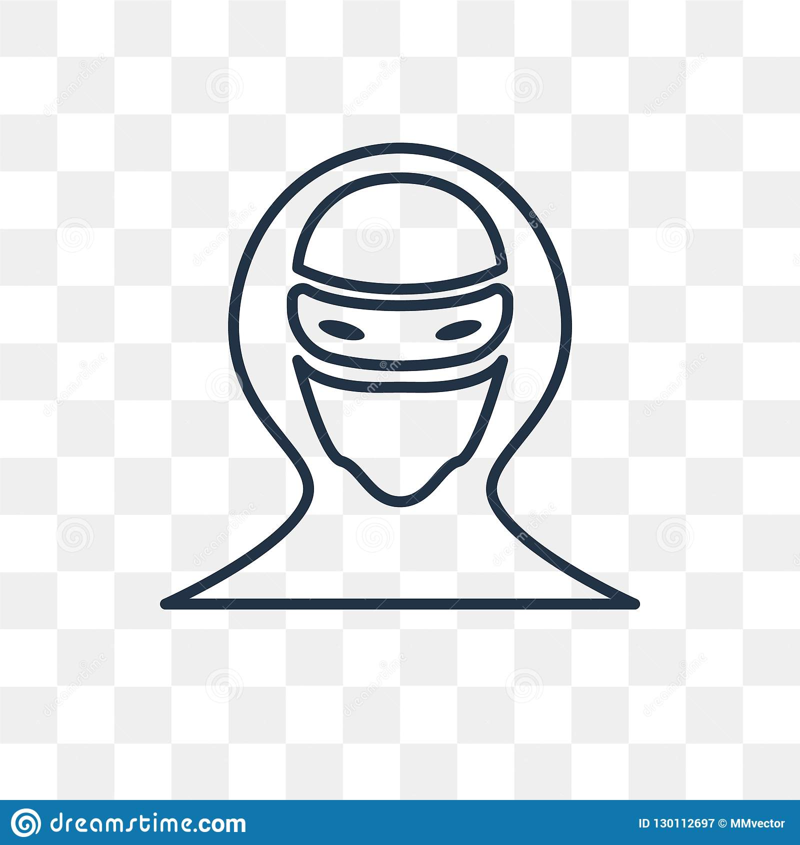 Hacker Vector Icon On Transparent Background Linear Ha