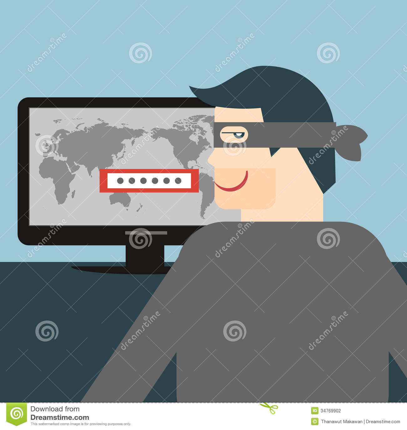 Hacker Stock Vector Illustration Of Data Damage Danger
