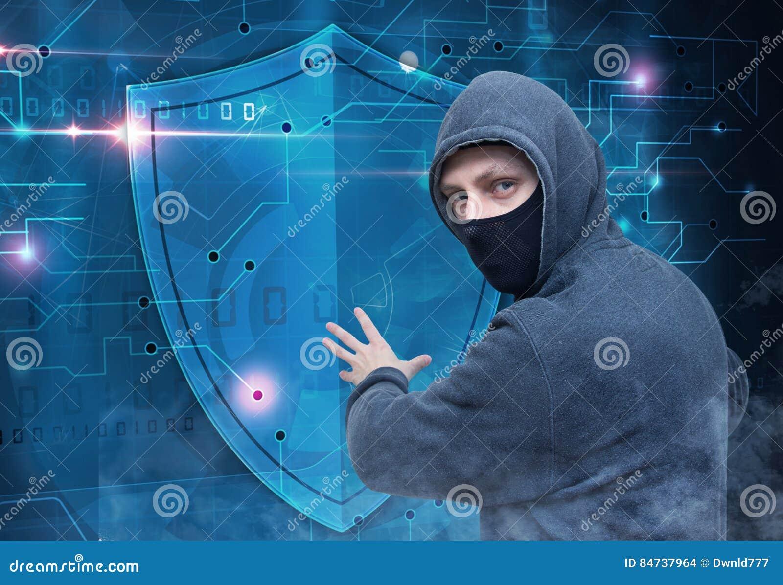 Hackera łamania cyber ochrony ochrona