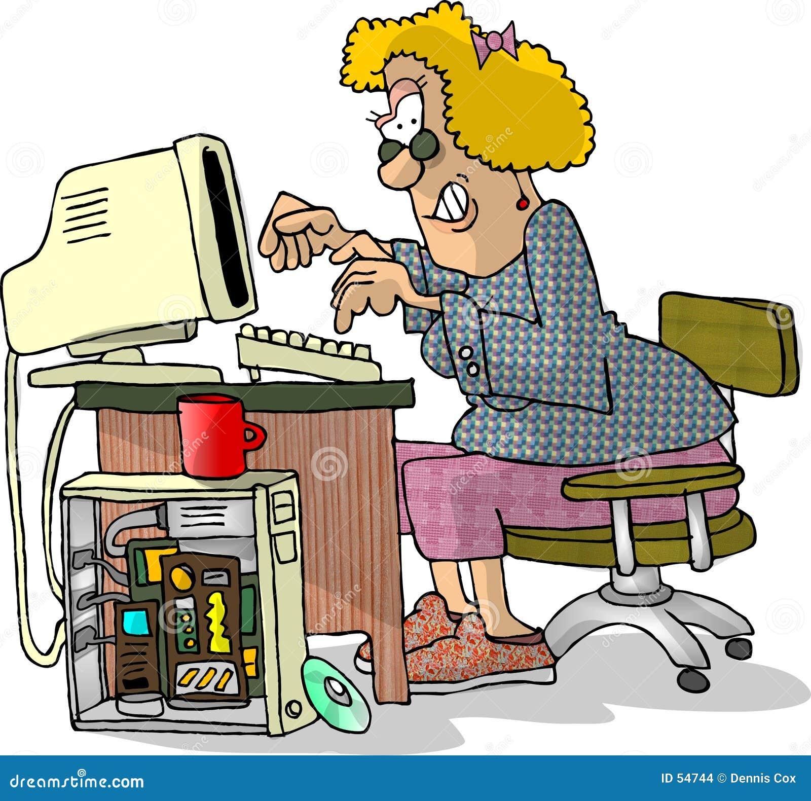 Hackerkvinna