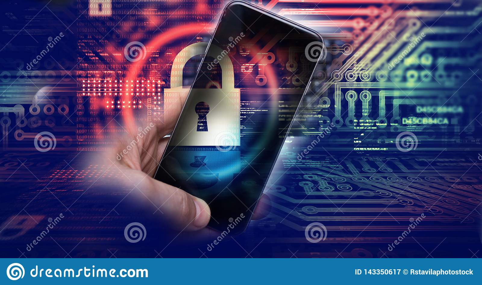 Hacking mobile devices by hackers. Data protection in the cloud