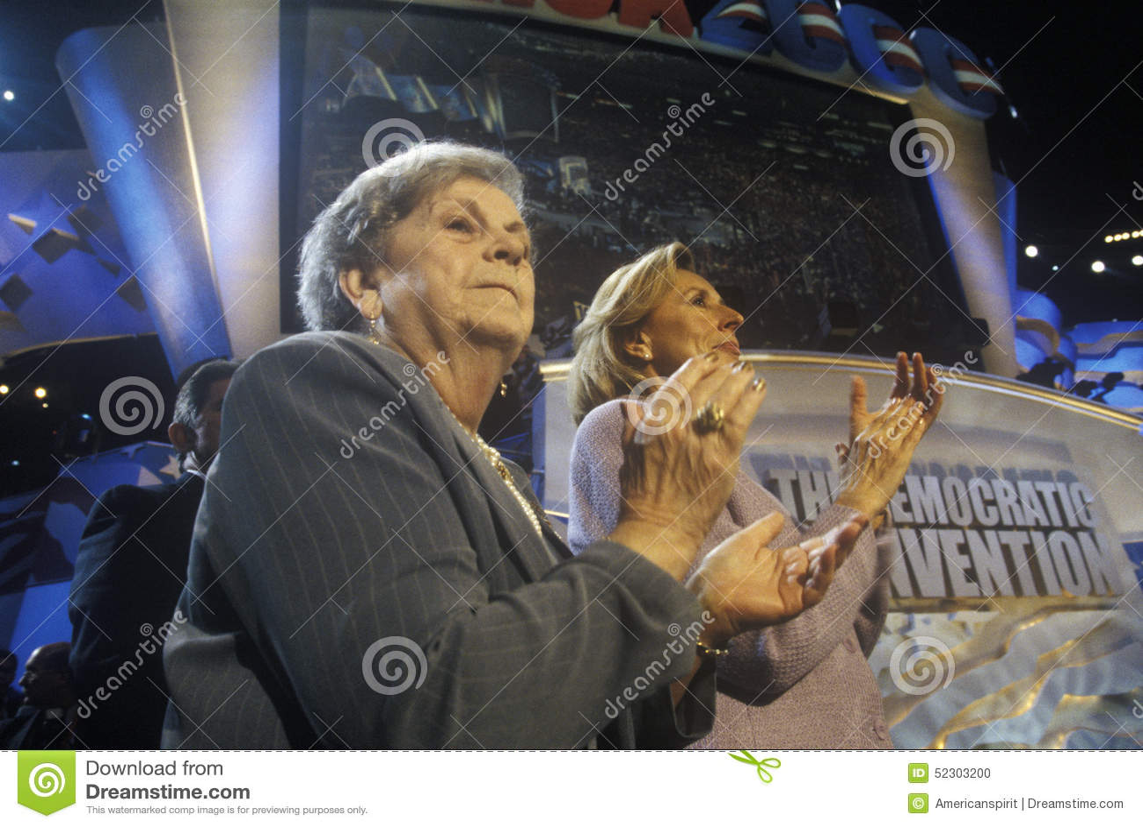 Hadassah Lieberman και κα Lieberman στη δημοκρατική Συνθήκη του 2000 στο Staples Center, Λος Άντζελες, ασβέστιο