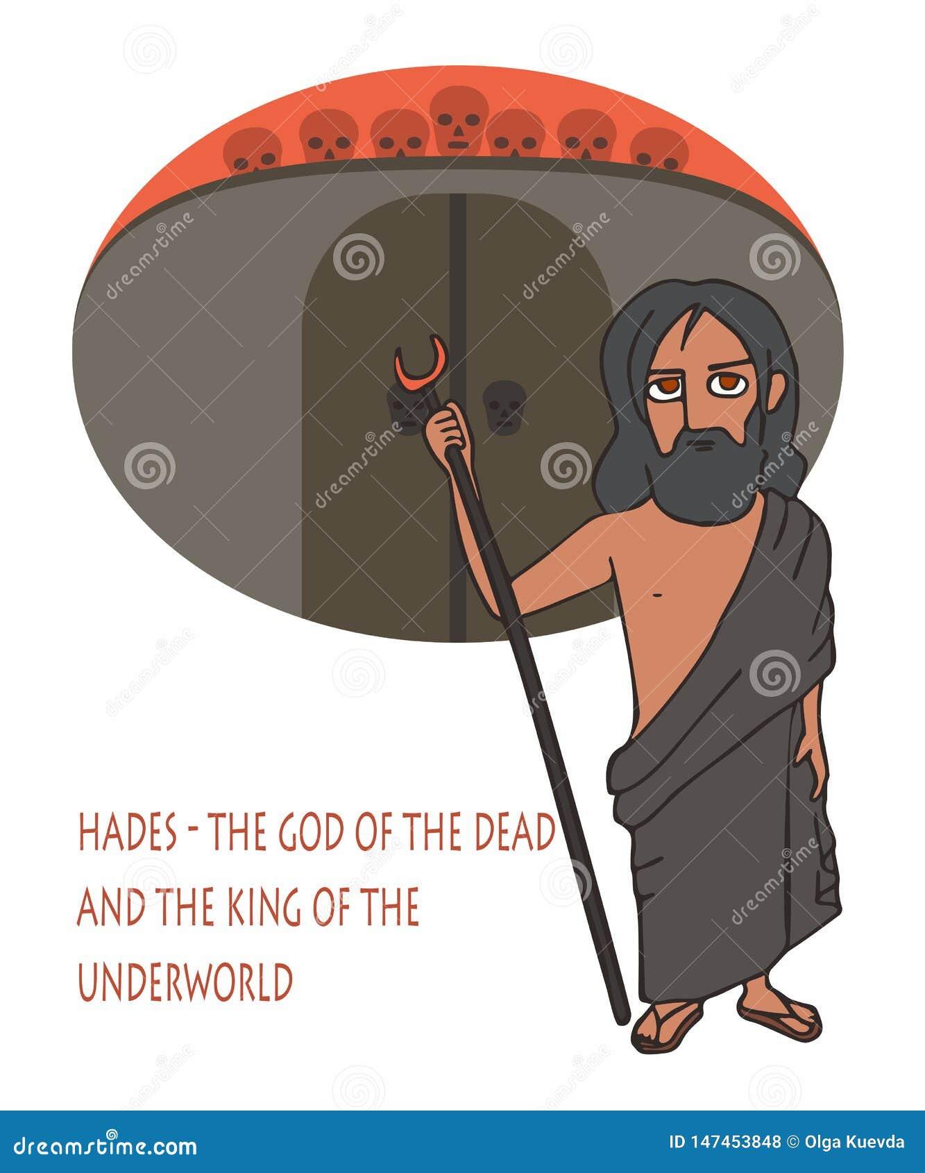 Hades O Deus Dos Mortos E Do Rei Dos Desenhos Animados Do Submundo