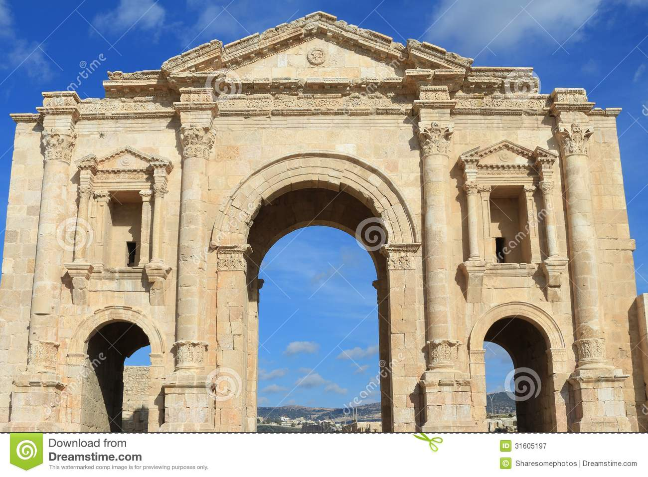 Hadrians Arch Royalty Free Stock Photography - Image ...