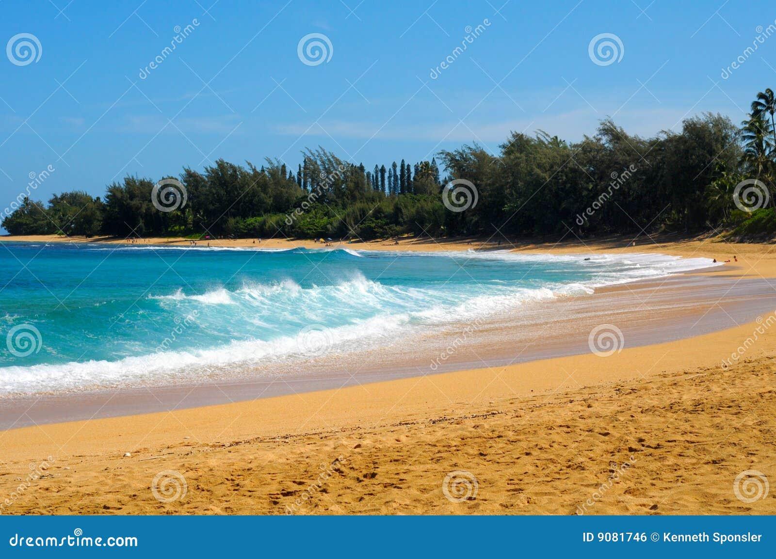Haena пляжа