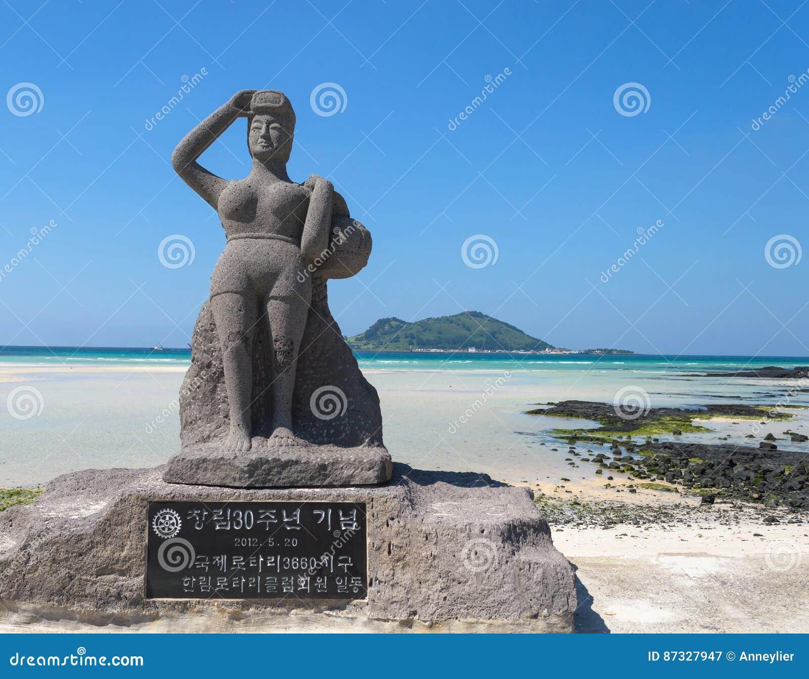Jeju Island Beaches: Haenyeo Editorial Photography. Image Of Vacation