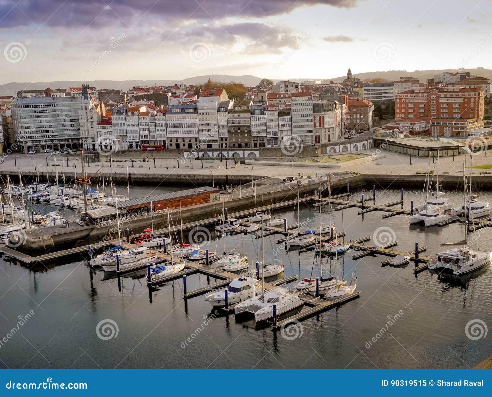 Hafen von La Coruna, Spanien