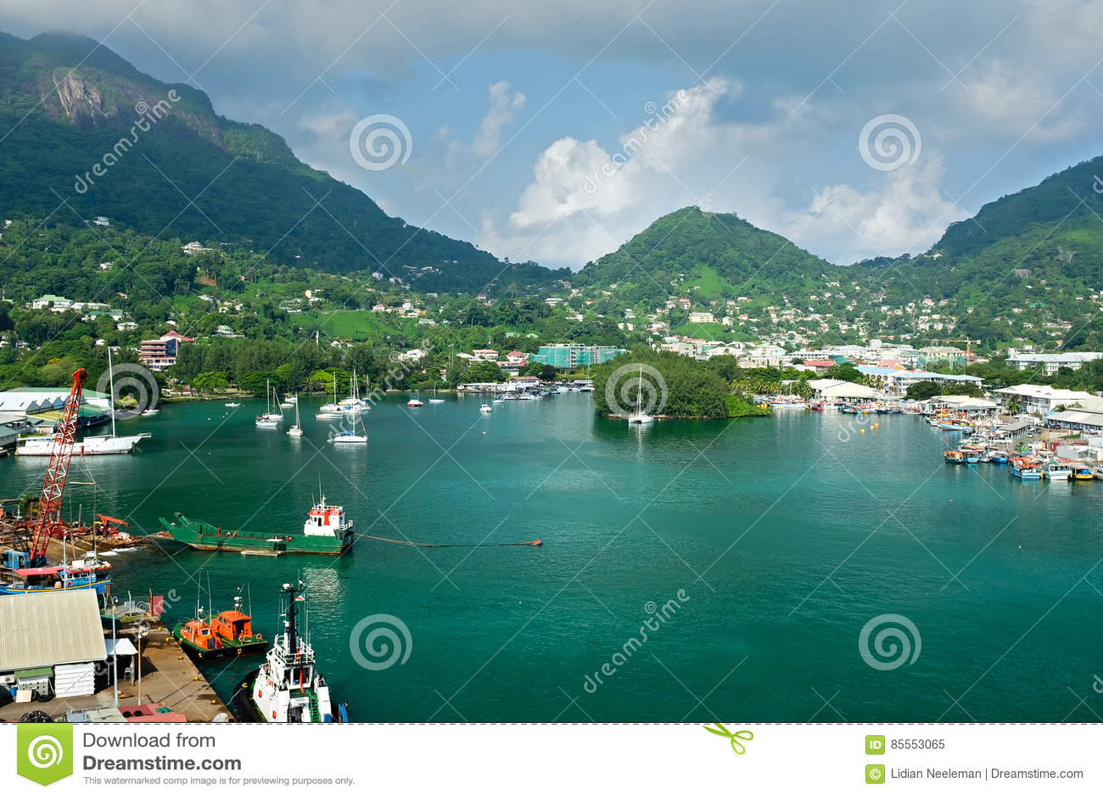 Hafen von Victoria, innerer Hafen gelegen in Seychellen
