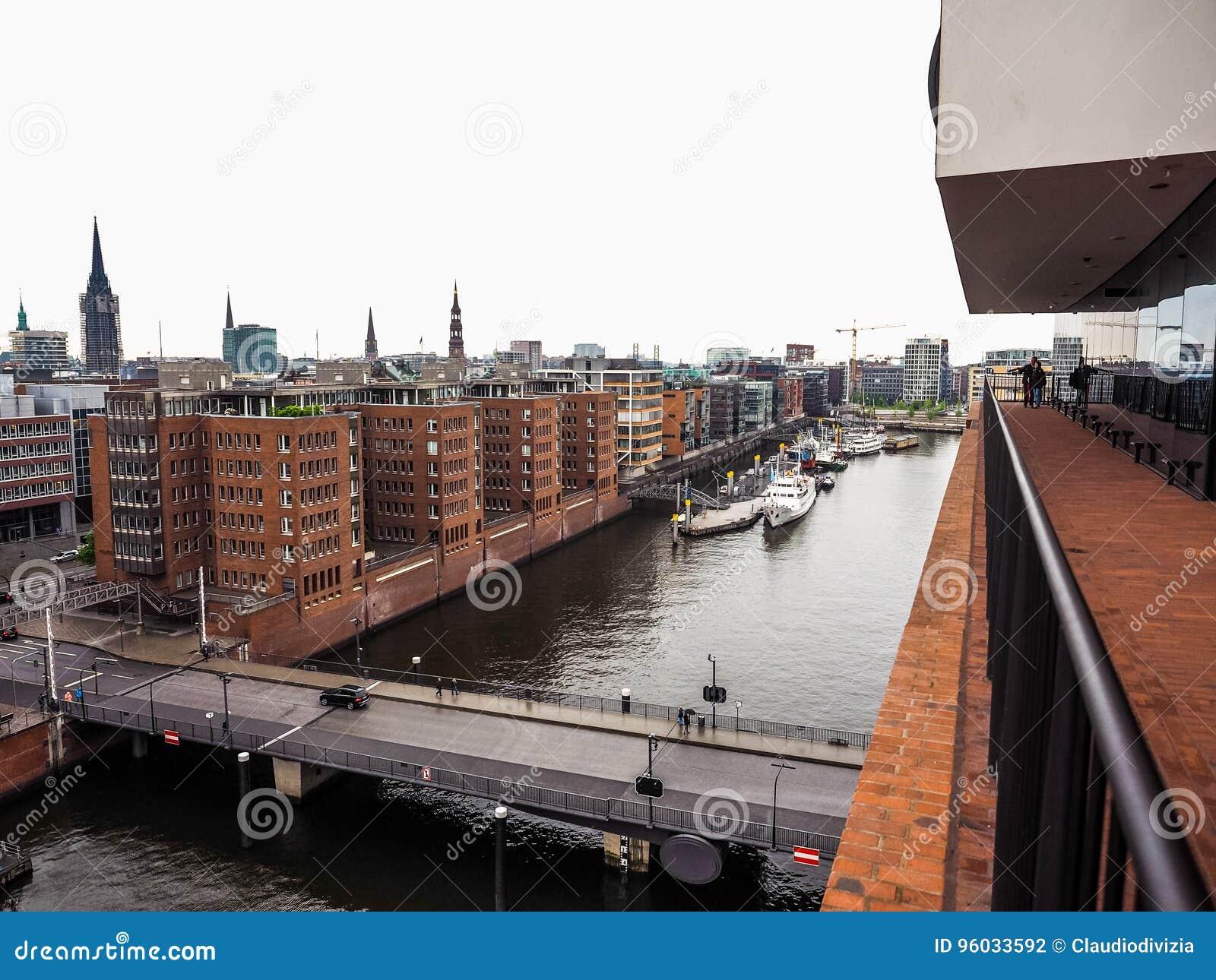 HafenCity w Hamburskim hdr
