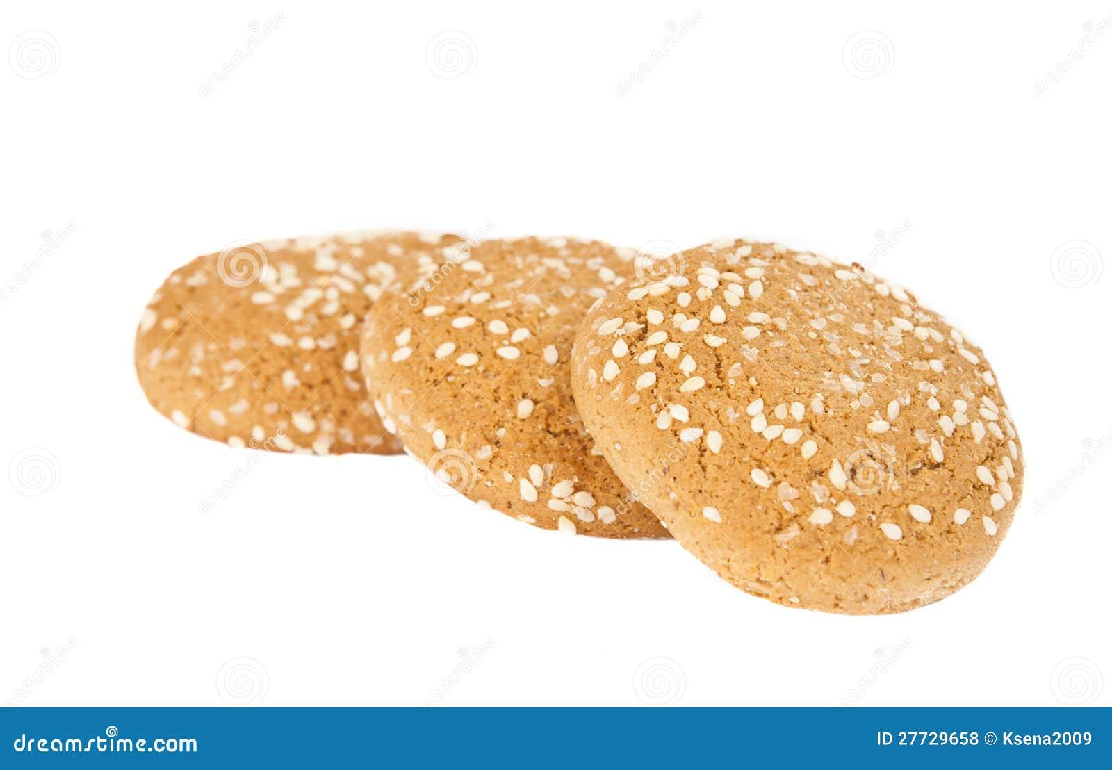 Hafermehlplätzchen mit Sesamstartwerten für zufallsgenerator