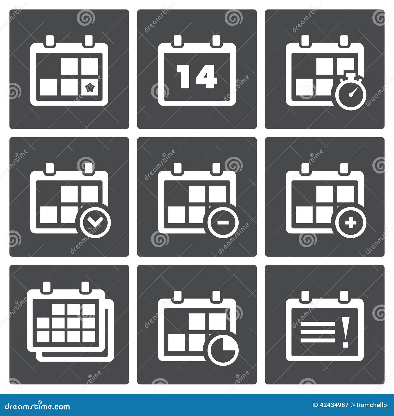 Haga calendarios con el sistema del icono de las notas
