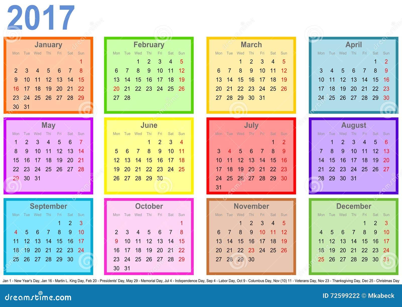 calendario 2017 mes - Calendar