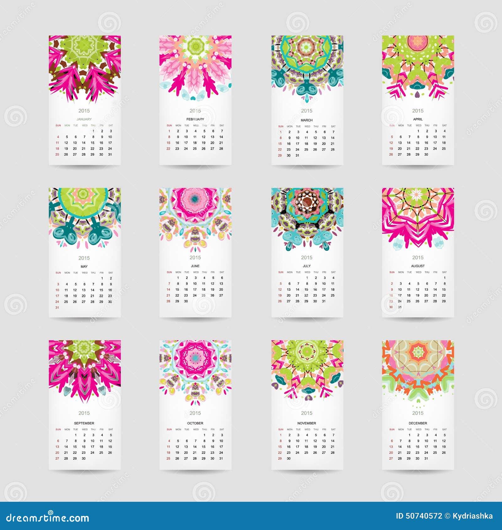 Haga calendarios la rejilla 2015 para su dise o floral - Disenos de calendarios ...