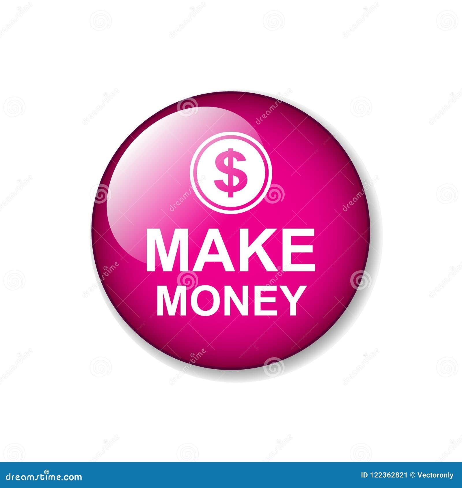Haga el botón del web del dinero