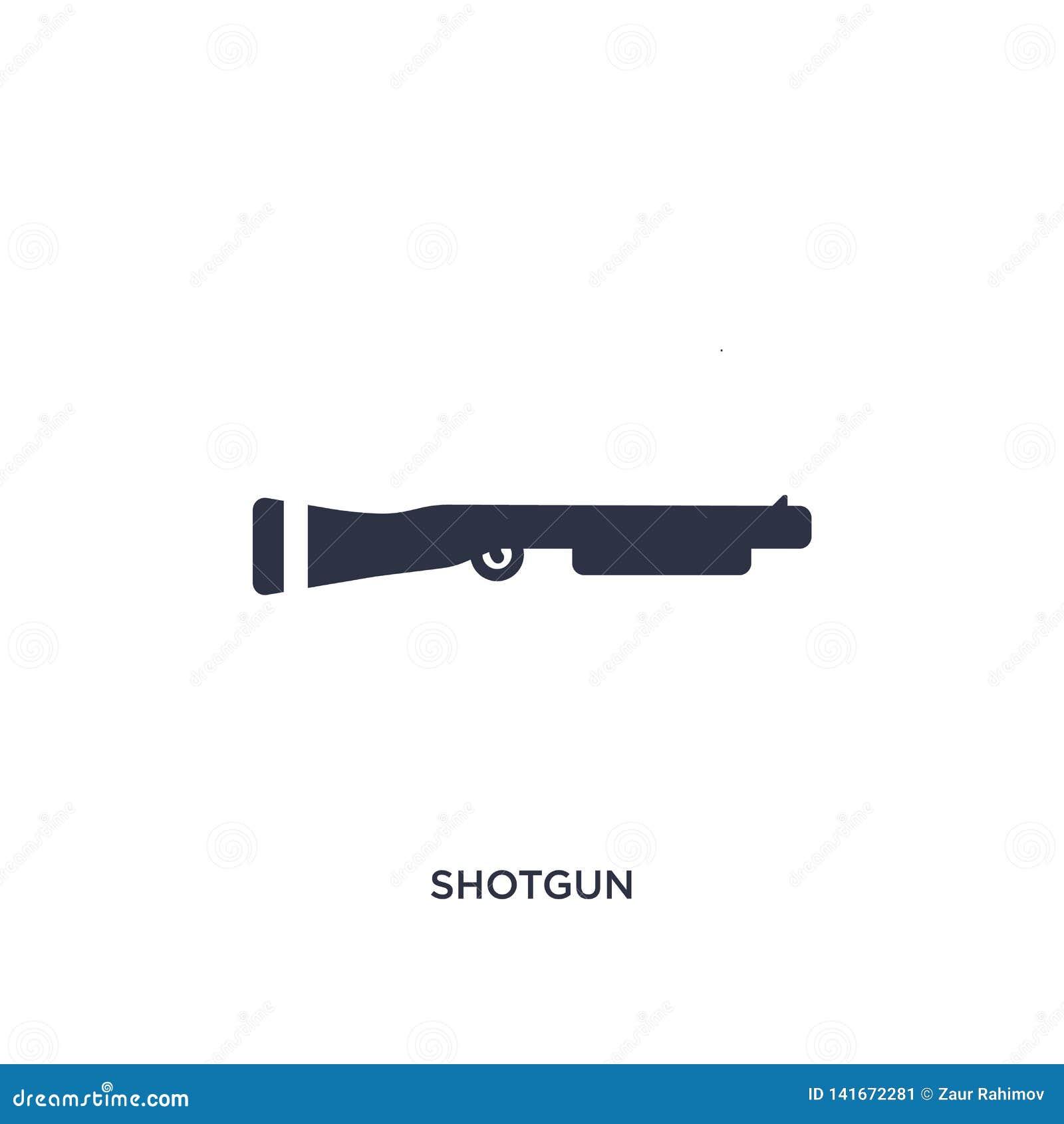 Hagelgevärsymbol på vit bakgrund Enkel beståndsdelillustration från lag- och rättvisabegrepp