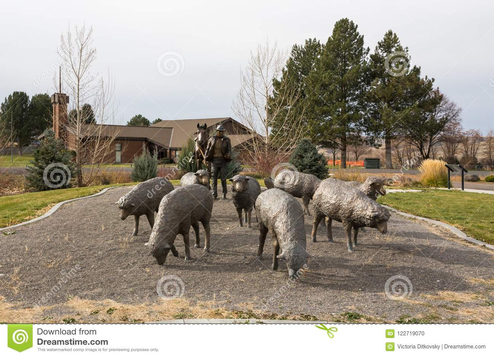 Hagerman绵羊纪念碑在爱达荷