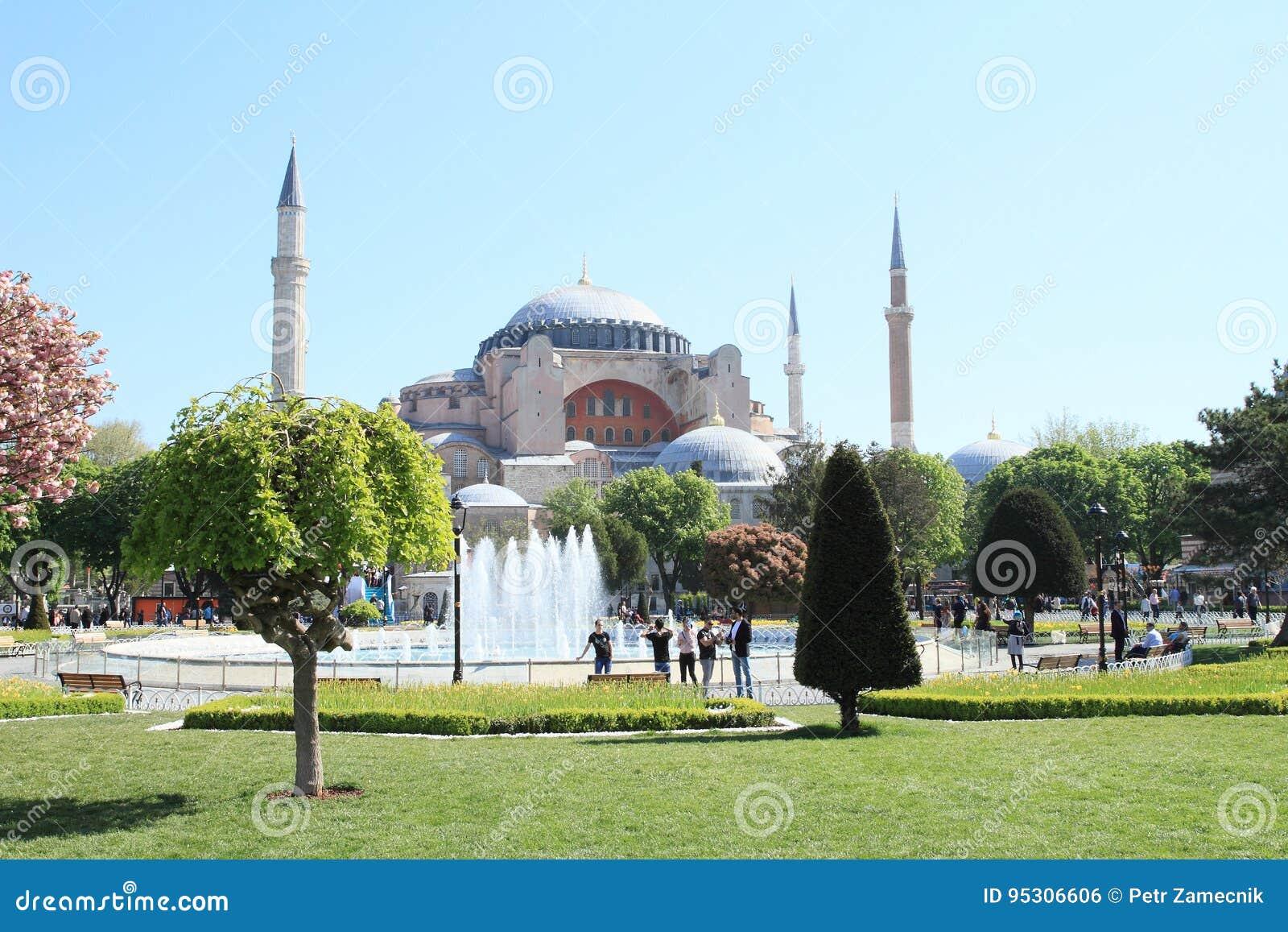 Hagia Sofia and Sultanahmed Arkeolojik Park in Istanbul