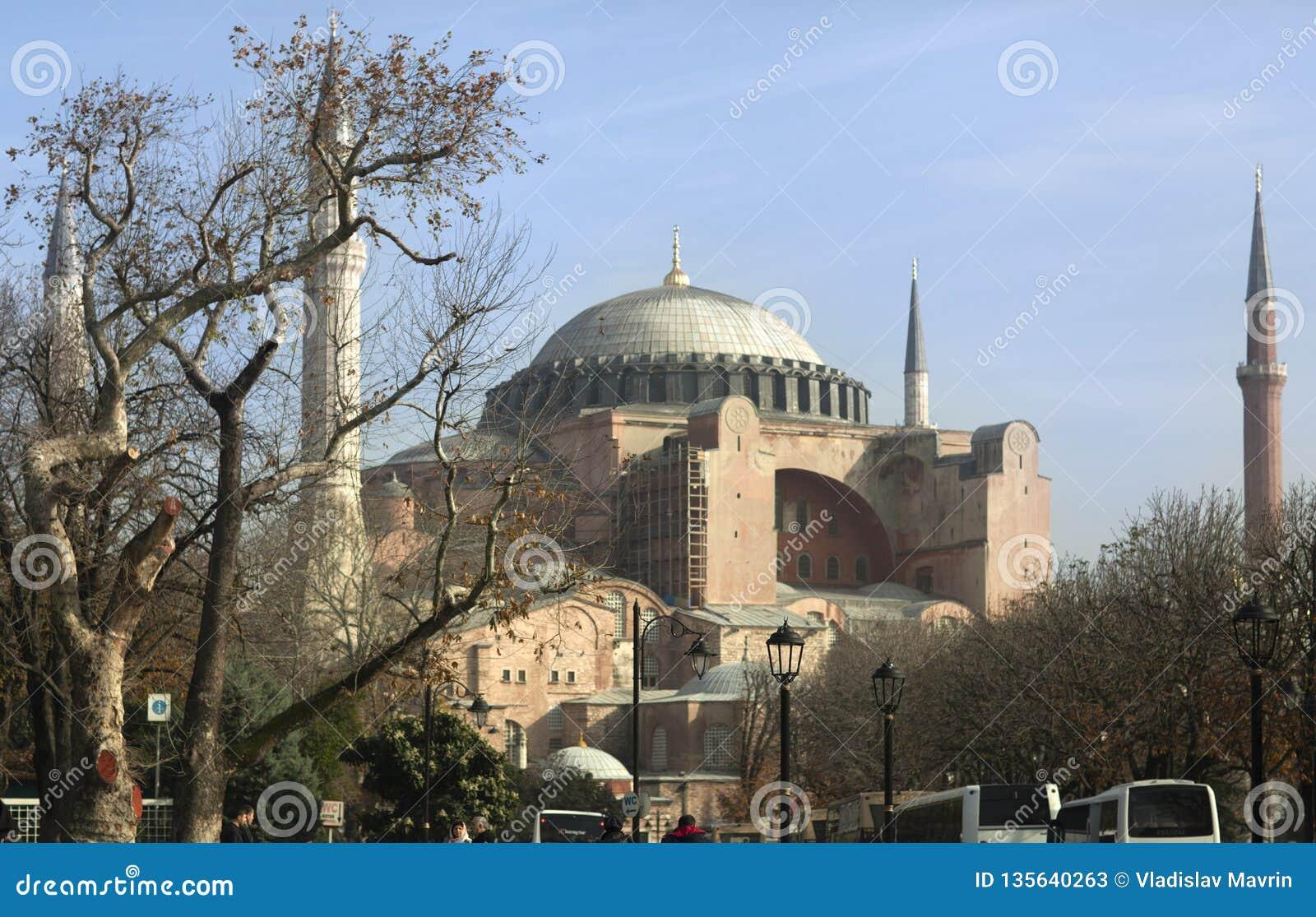Hagia Sophia, Costantinopoli, Turchia - dicembre 2014