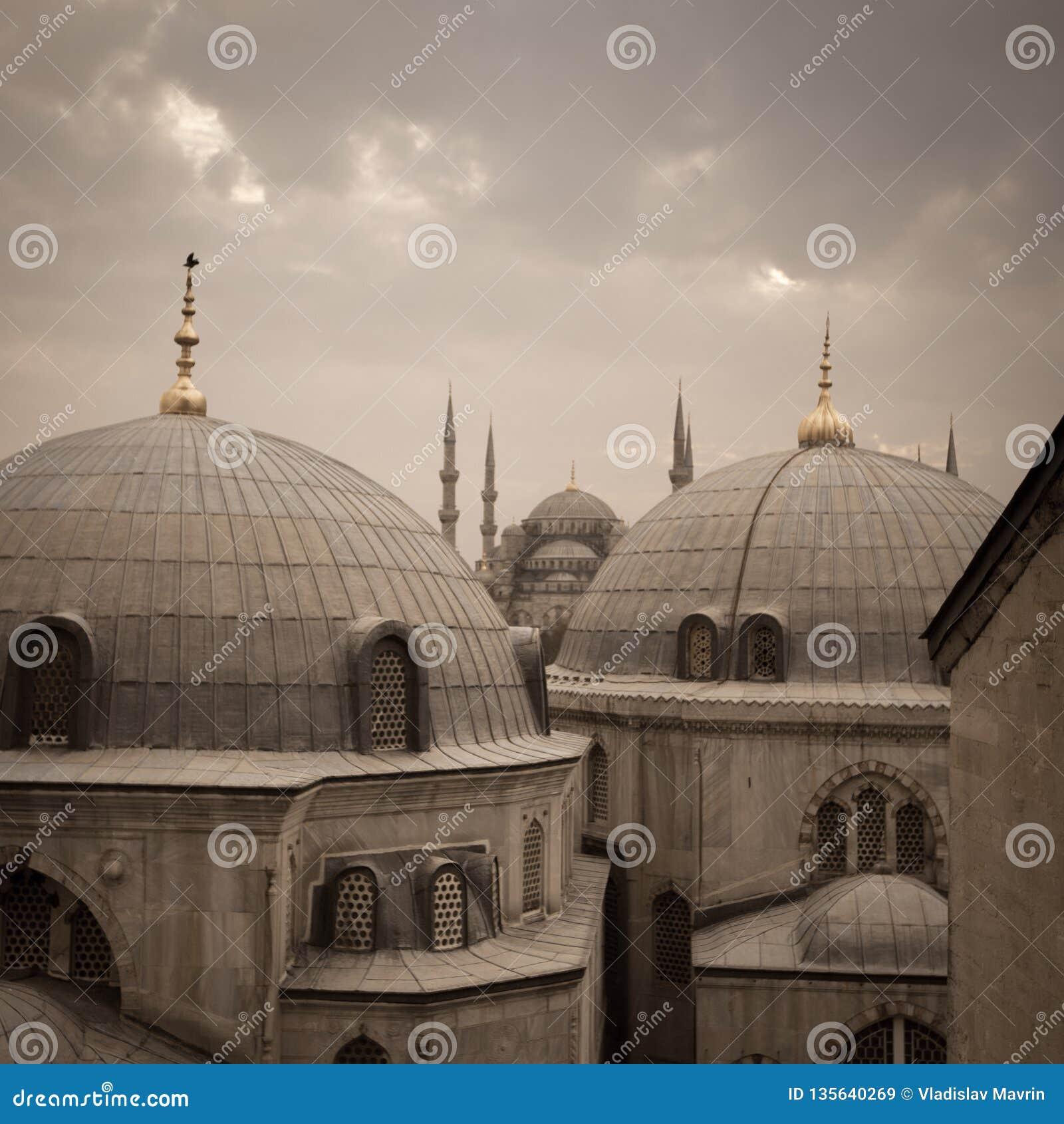 Hagia Sophia et mosquée bleue, Istanbul, Turquie - décembre 2014