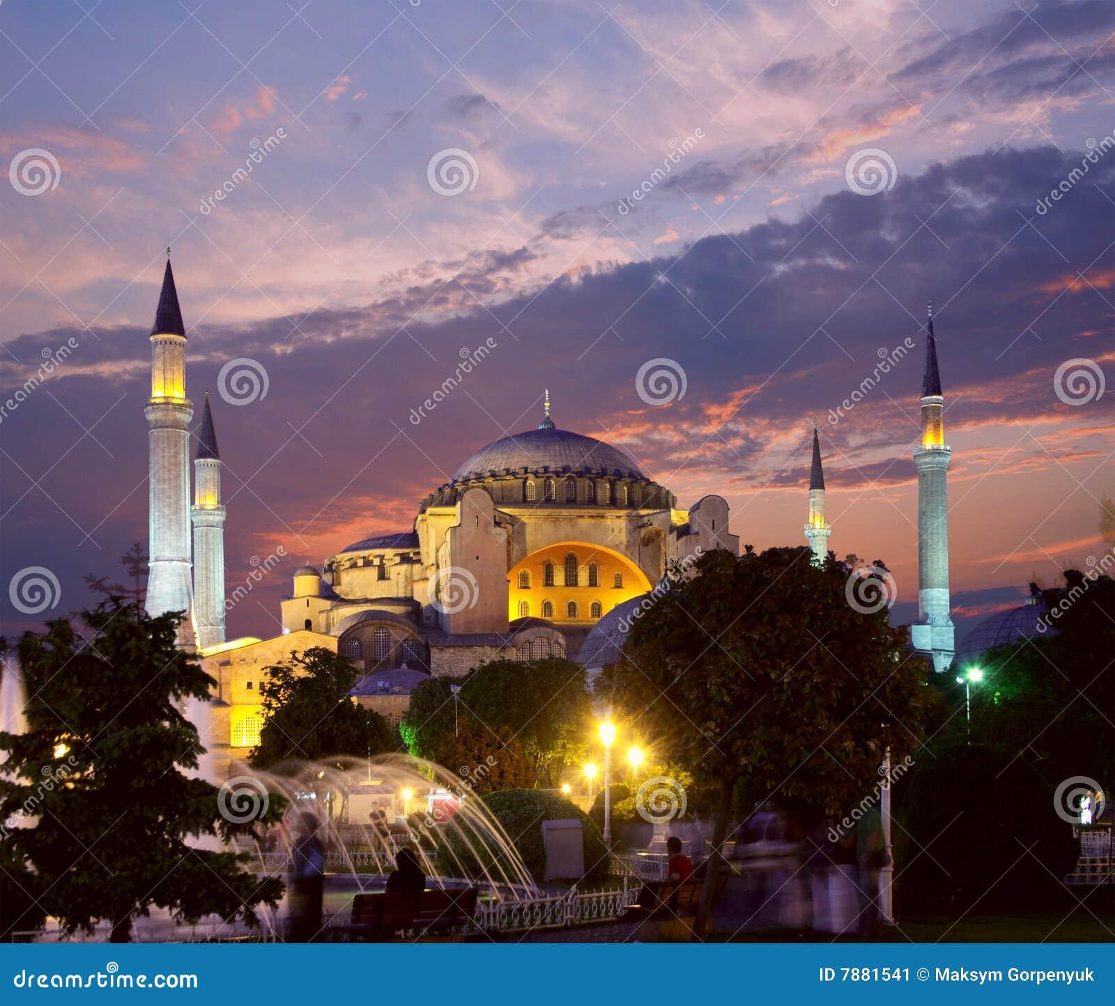 Hagia Sophia in Istanbul am Abend