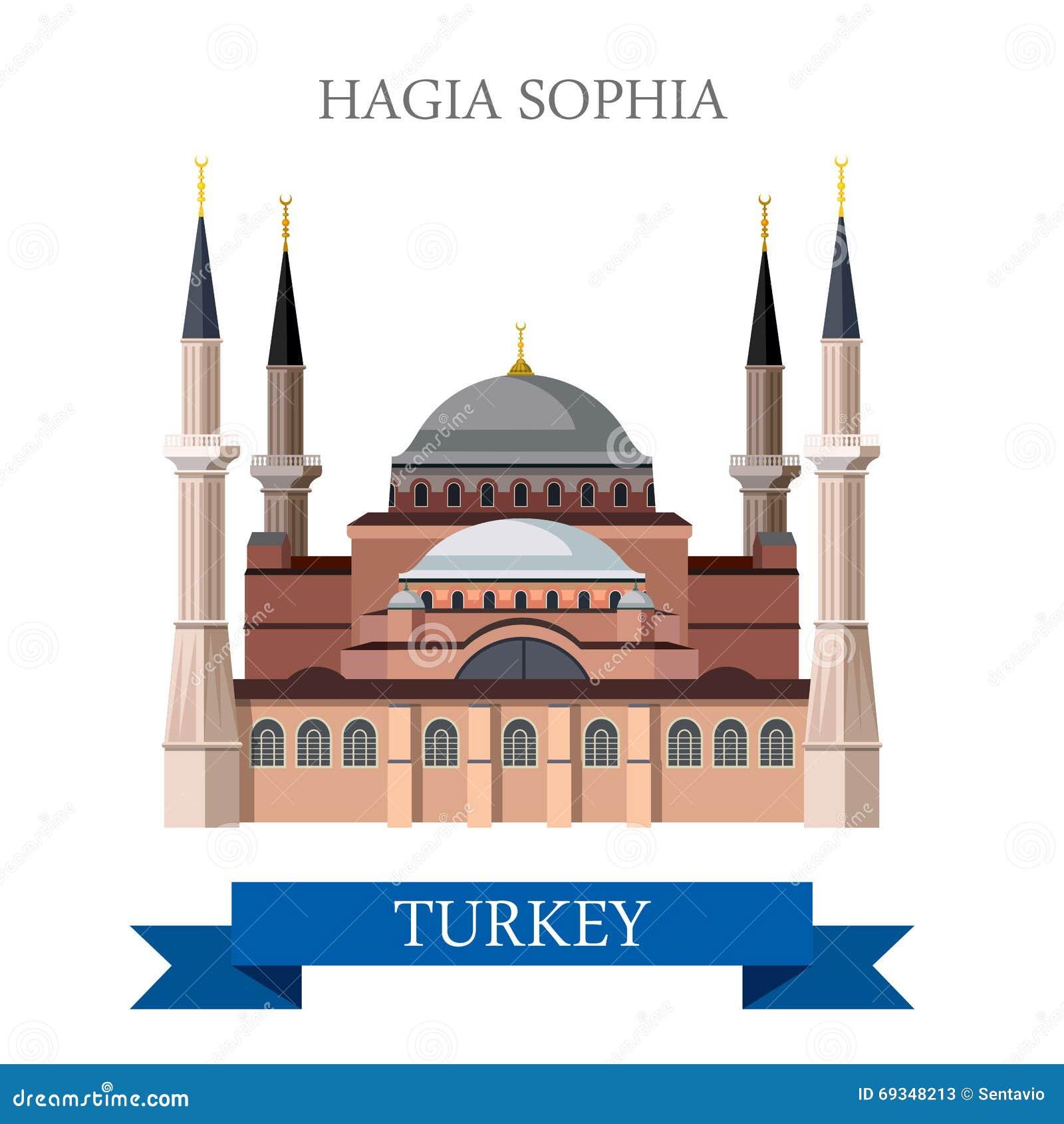 Hagia Sophia In Istanbul Turkey Tourist Attraction