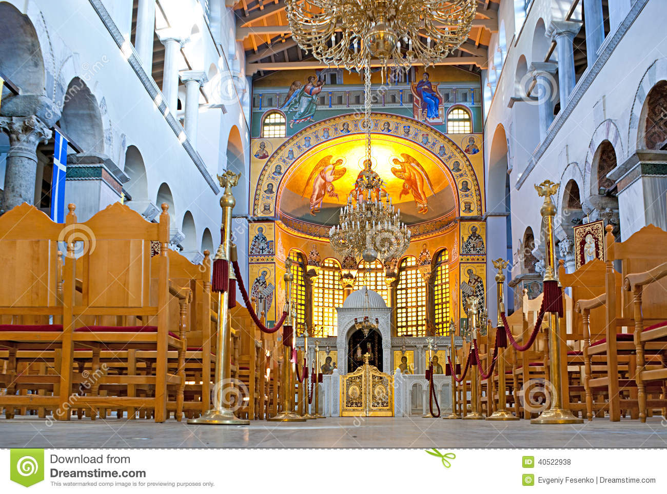 Hagios demetrios interior stock photo image 40522938 for Greek interior design history