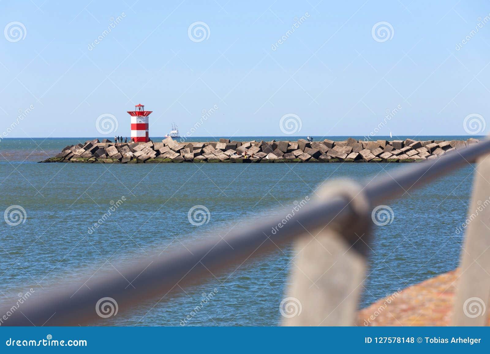 Hague holandii latarni morskiej denny przód