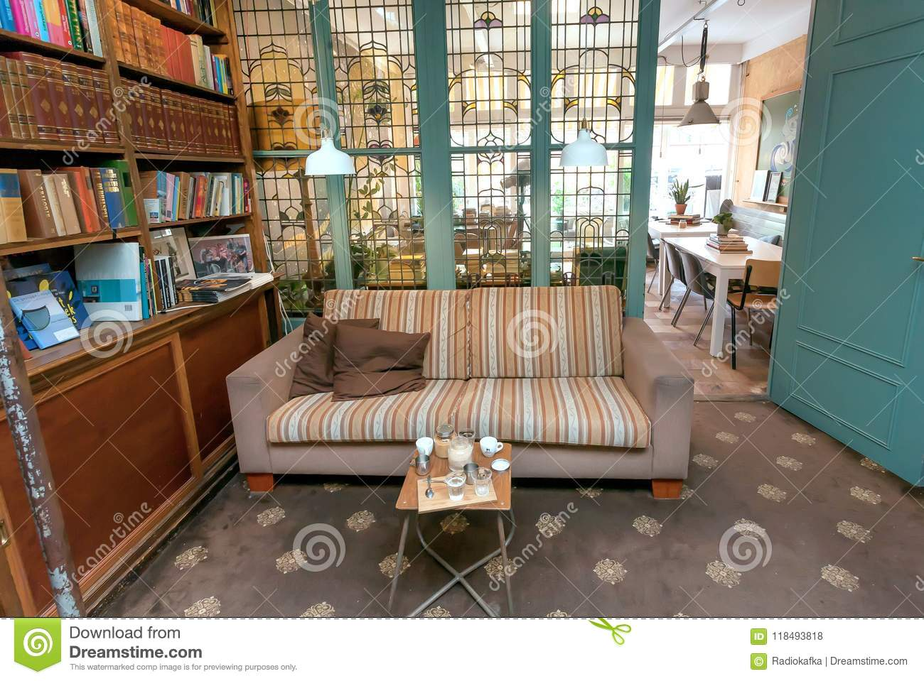 Awe Inspiring Old Book Shop With Antique Windows Couch And Tables For Uwap Interior Chair Design Uwaporg