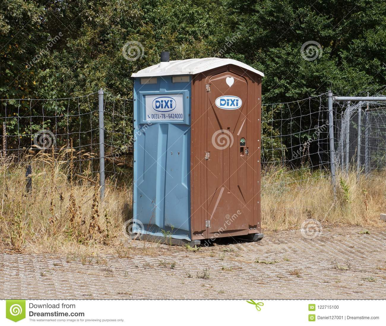 Dixi portable toilet editorial image. Image of hague - 122715100
