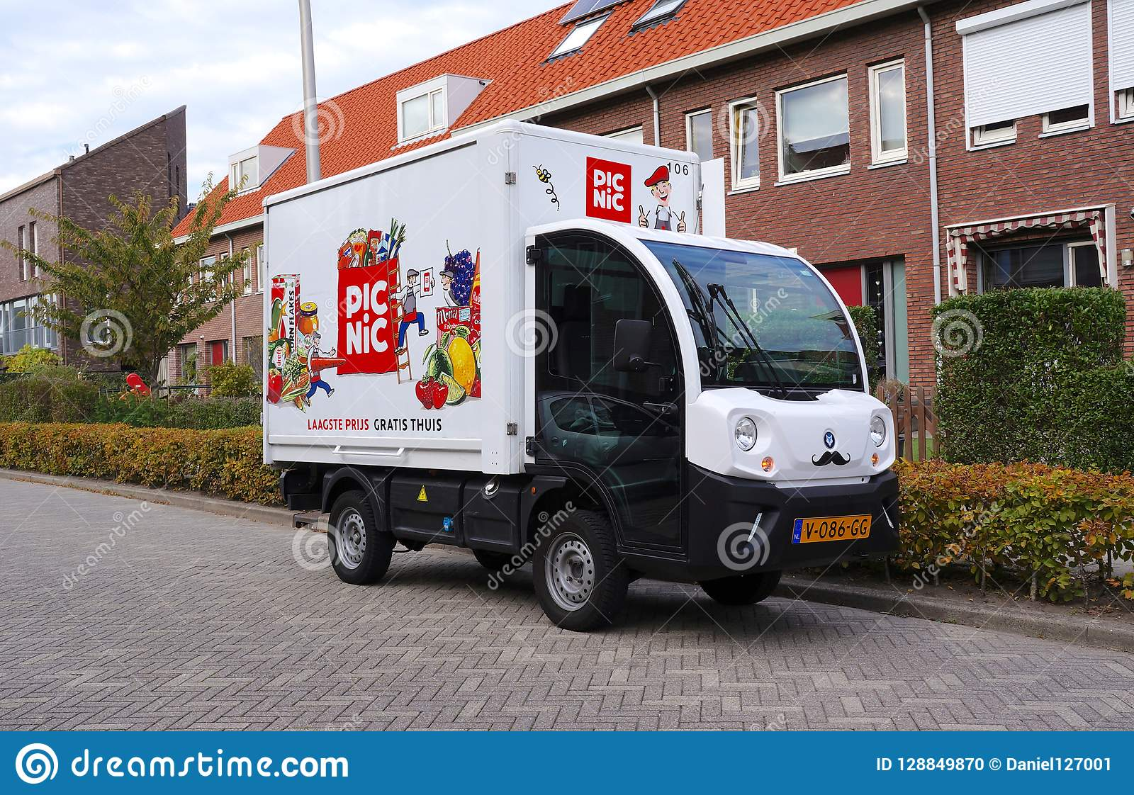Picnic delivery truck, the Netherlands