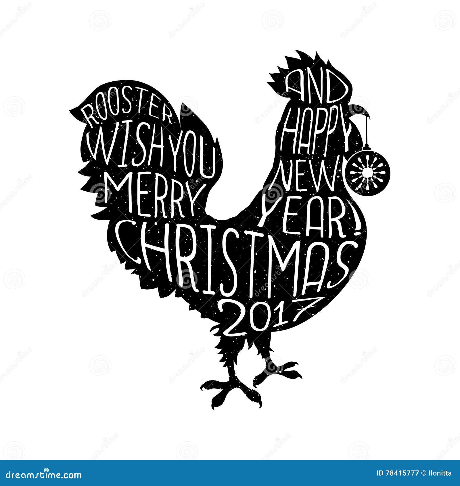 Hahnwunsch Reden Sie Hippie Der Frohen Weihnachten Und Des Guten ...