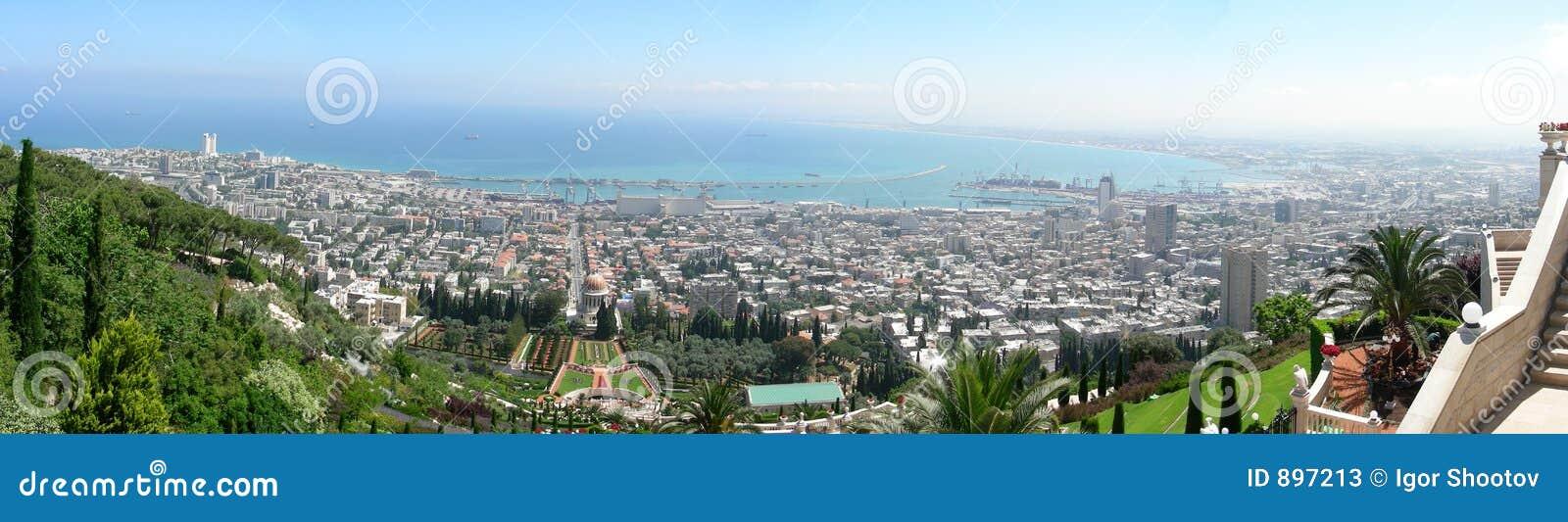 Download Haifa stock image. Image of haifa, city, view, cove, landscape - 897213