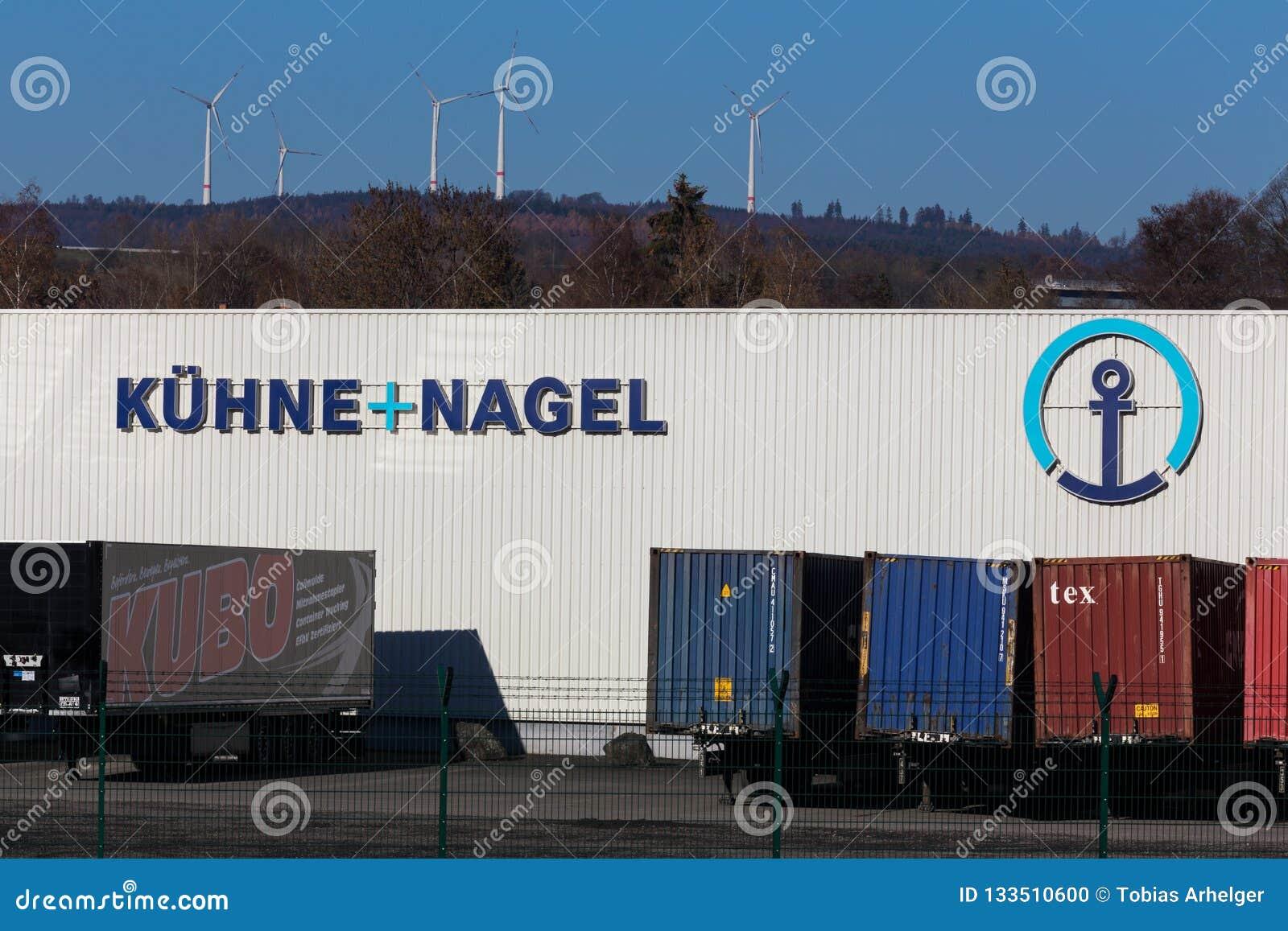 Haiger, hesse/germany - 17 11 18: kühne und nagel sign in haiger germany