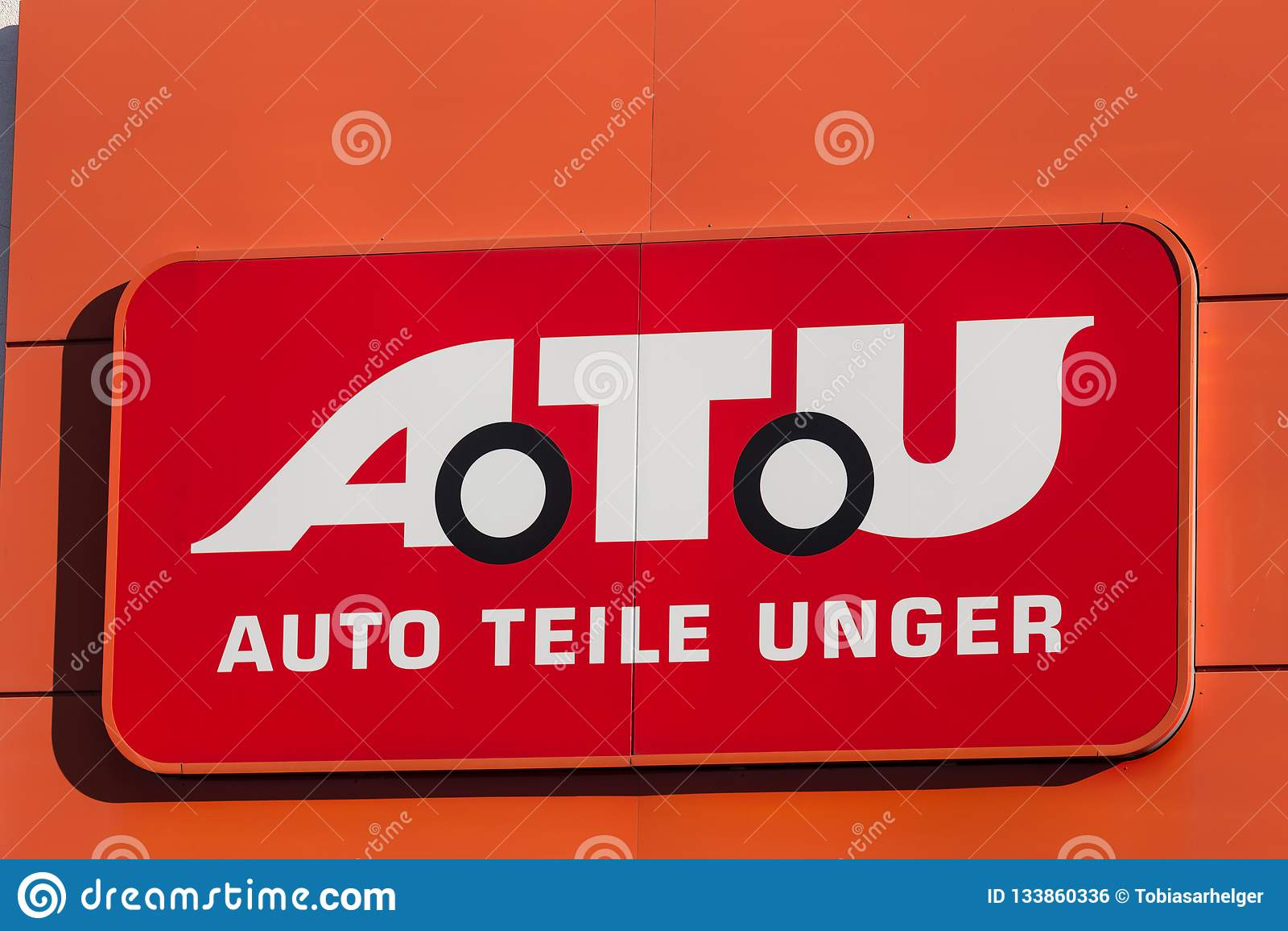 Haiger, Hessen/Deutschland - 17 11 18: atu-Zeichen auf einem Gebäude im haiger Deutschland
