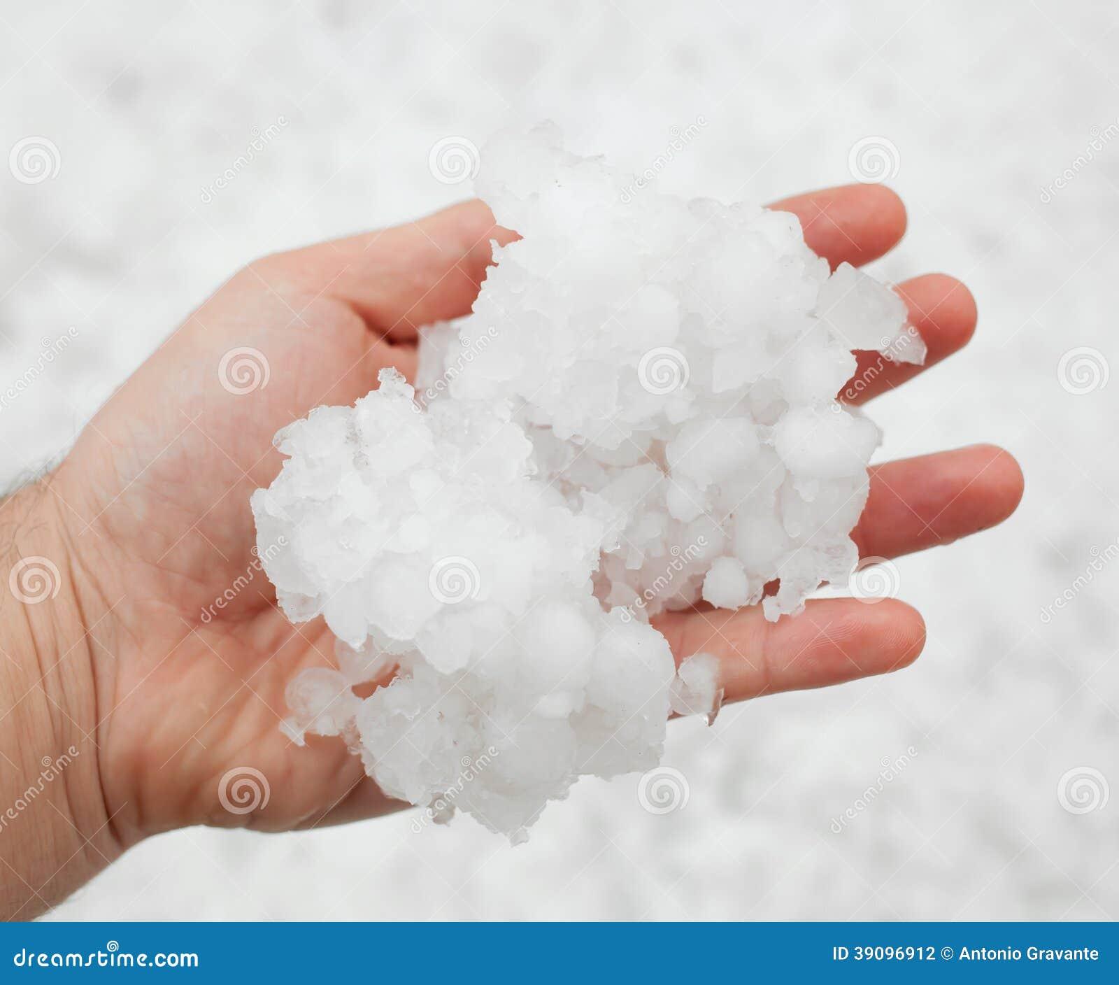 Hailstorm in de hand