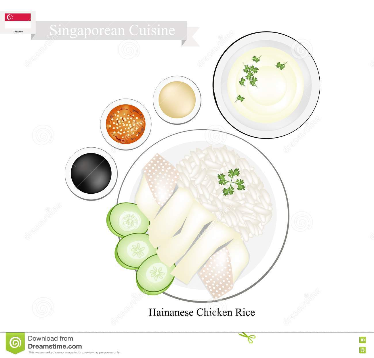 Chicken Cuisine Dish Hainanese Popular Rice Sauce