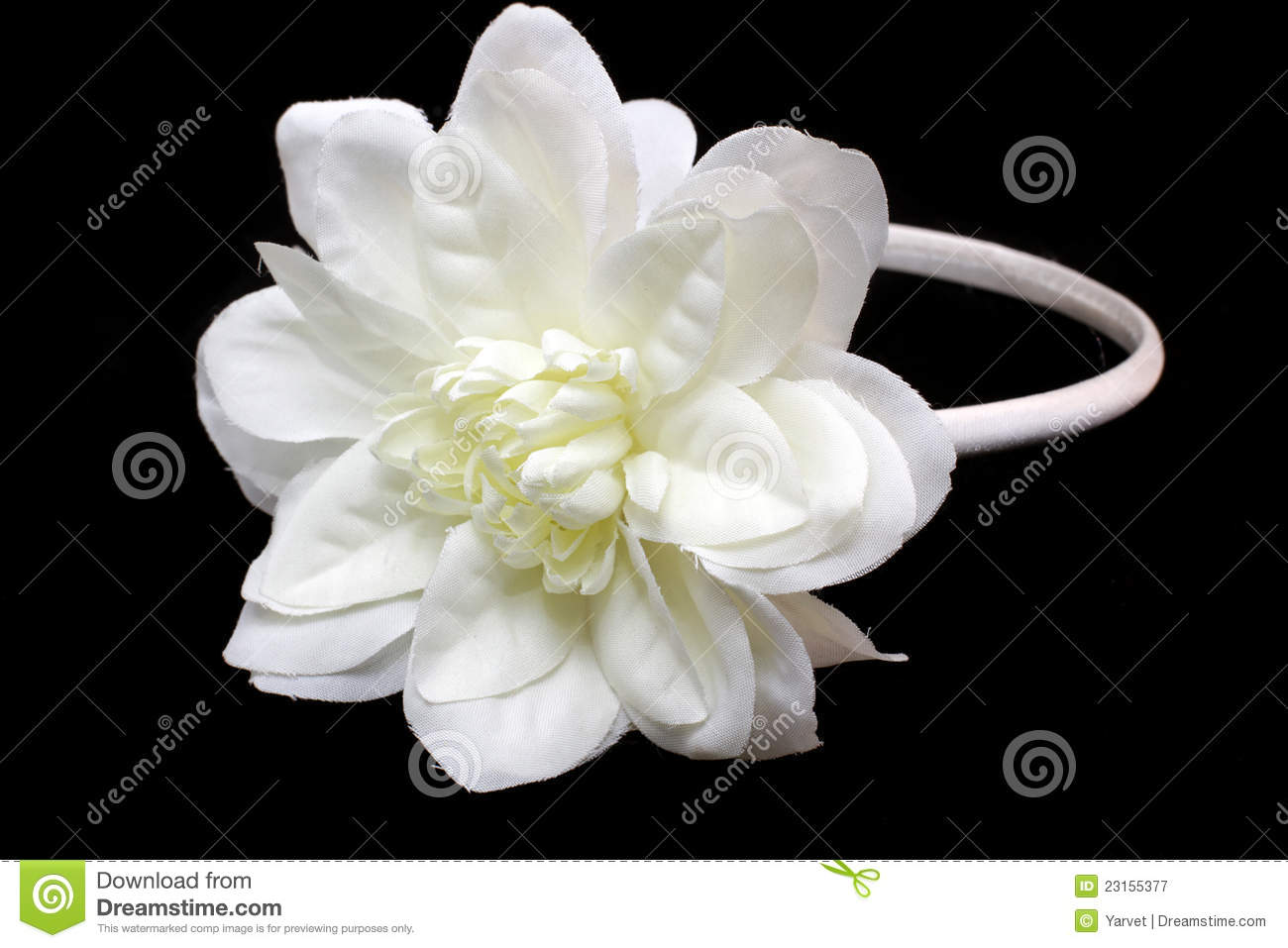 Hair band with a white flower stock image image of elastic band hair band with a white flower mightylinksfo