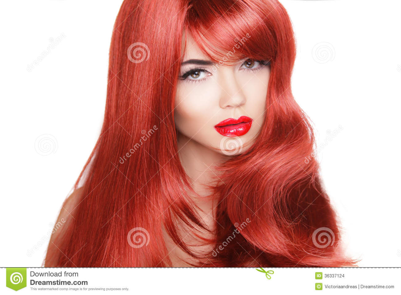 Long Red Hair Models Cool Hairstyles