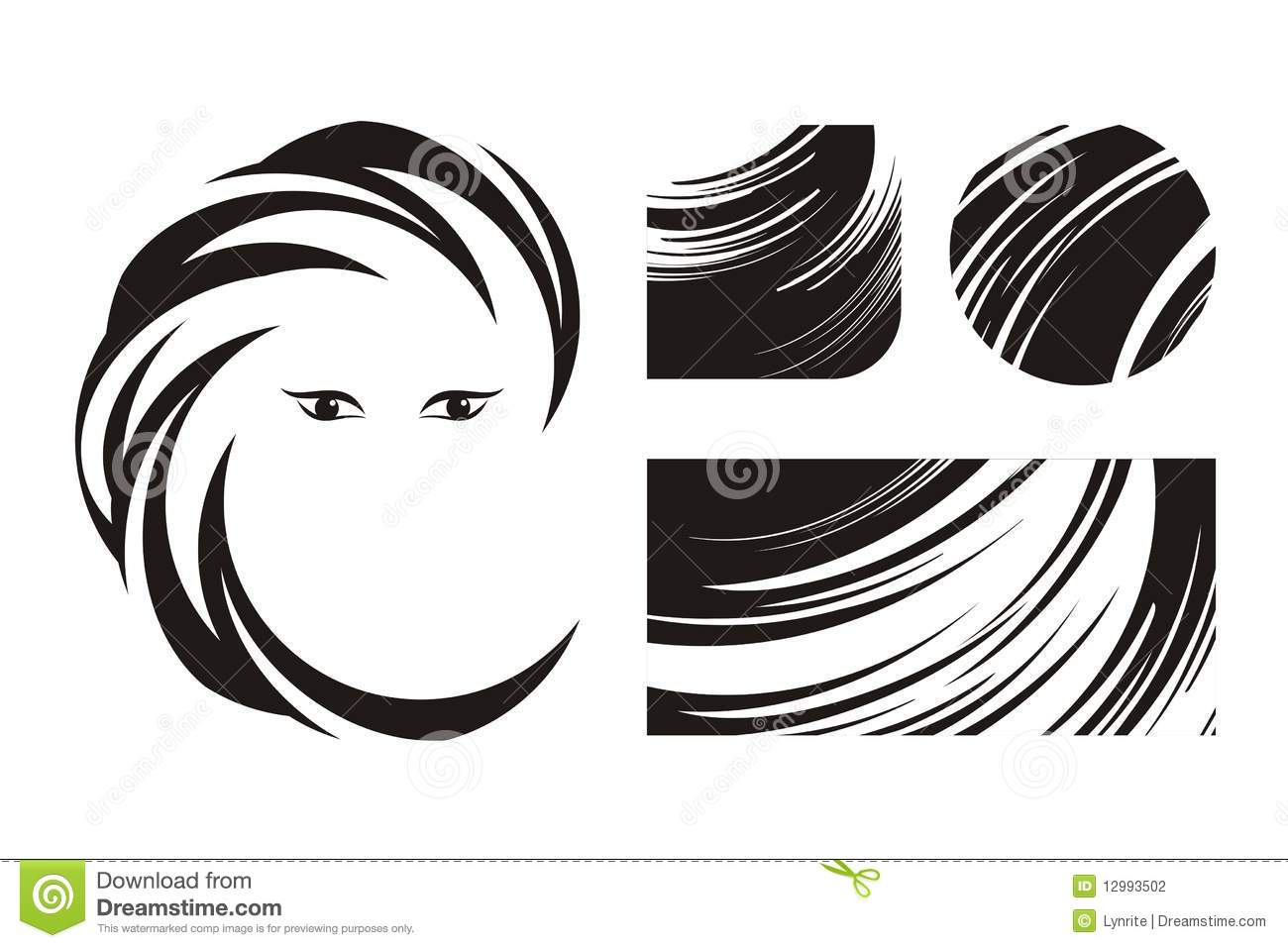 hair beauty logos icons designs background icon