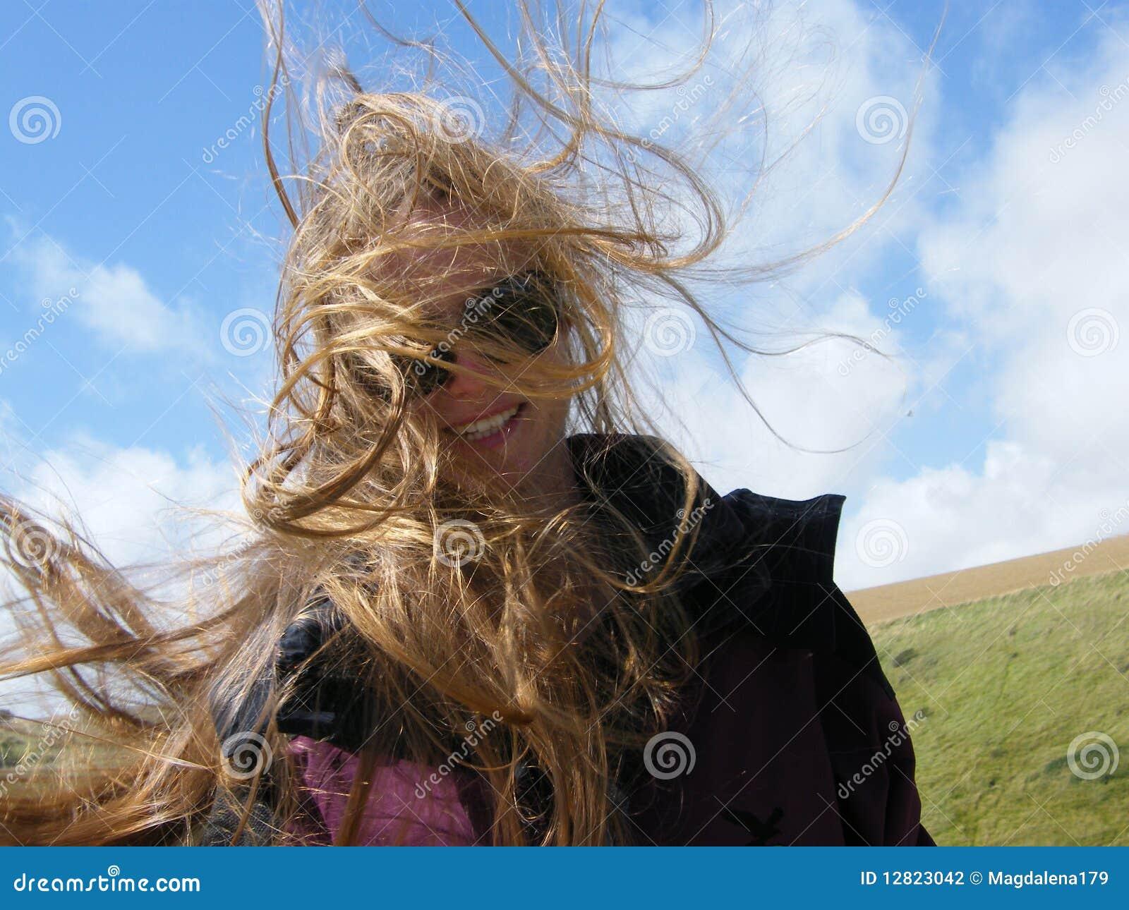 Hair blowing in the wind meme