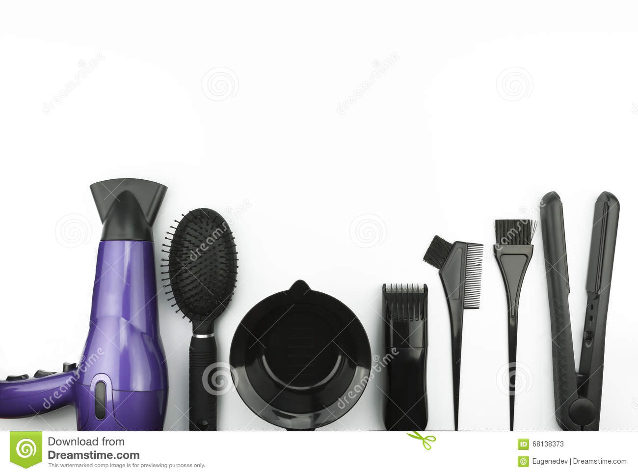 Hair Care Set On White Background Stock Image - Image ...