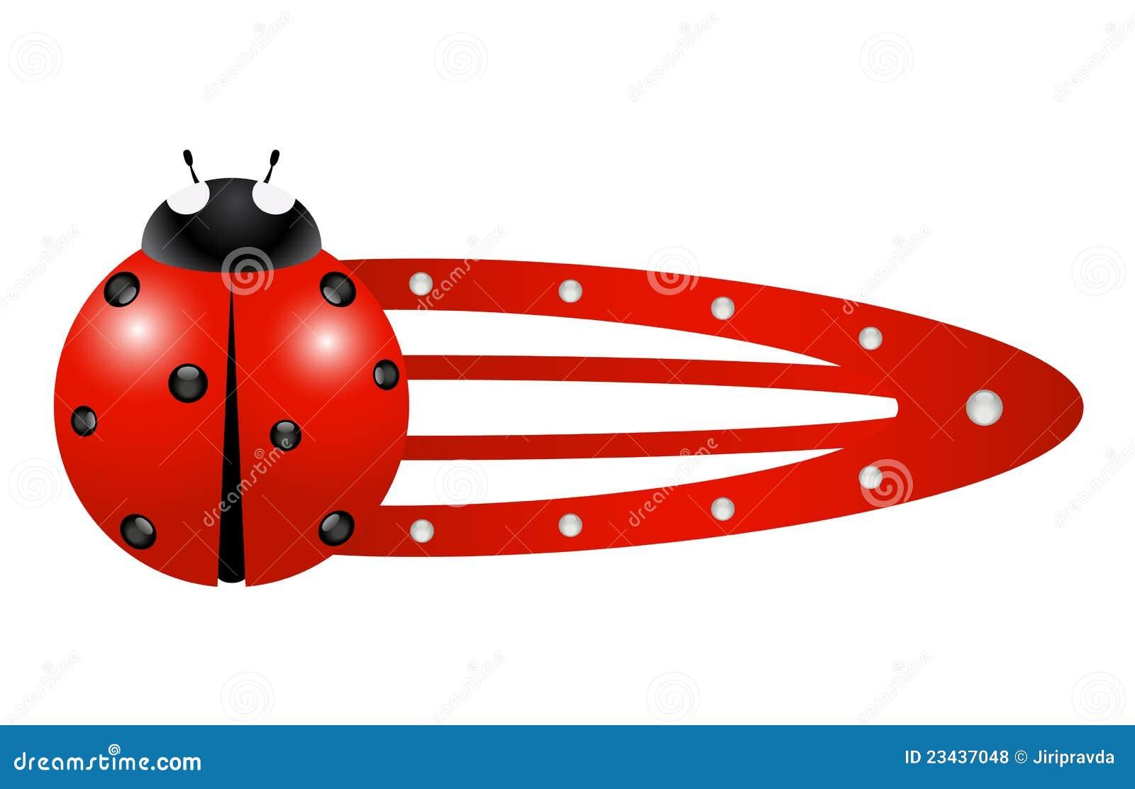 Hair clip – Ladybug