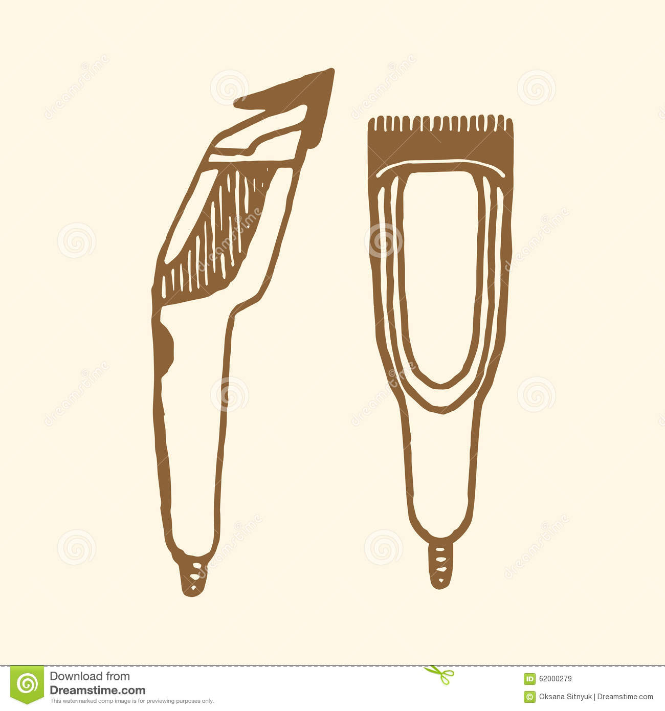Vintage Barber Clipart Hair Clippers I...