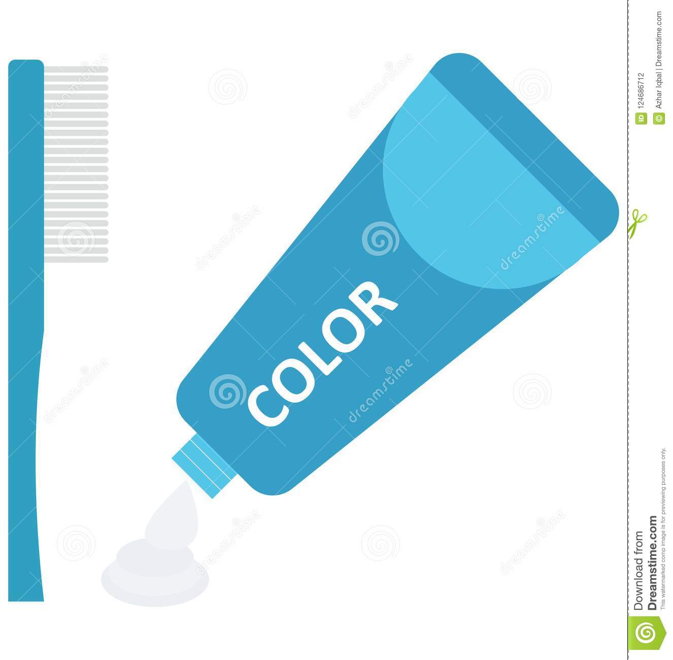 Hair Color Isolated Vector Icon Stock Vector Illustration Of