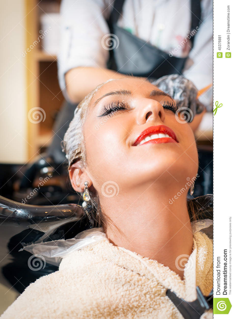 Hair Coloring In The Salon Stock Image Image Of Produce 45376881