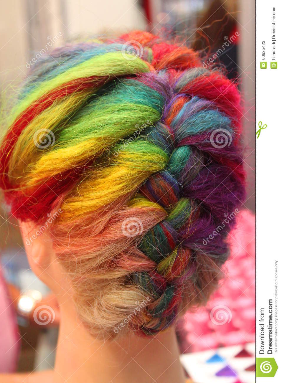 Hair Colors Palette Dyed Hair Stock Image Image Of