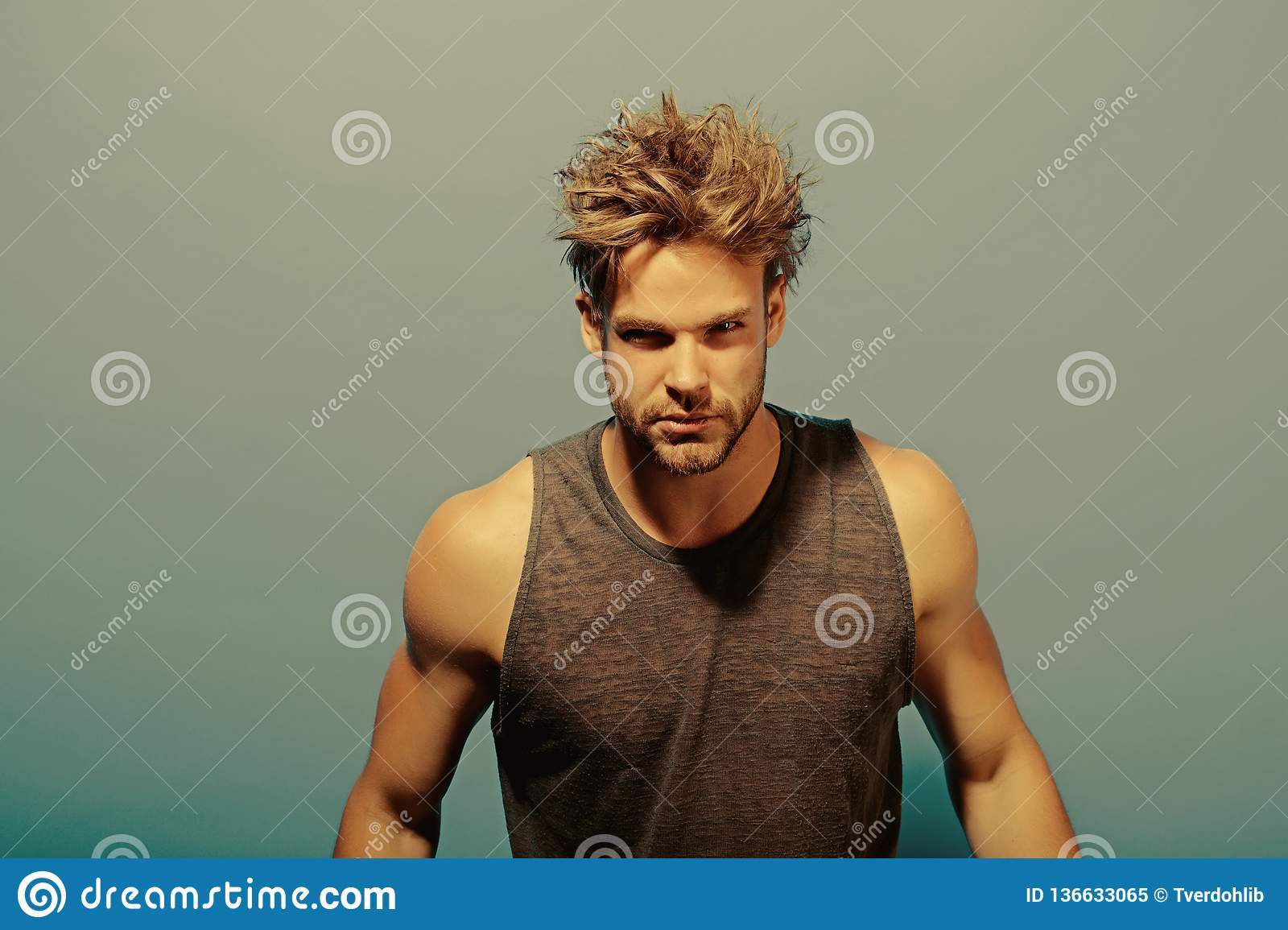 Superb Hair Concept Handsome Man With Messy Hair Young Guy Need Comb Schematic Wiring Diagrams Amerangerunnerswayorg