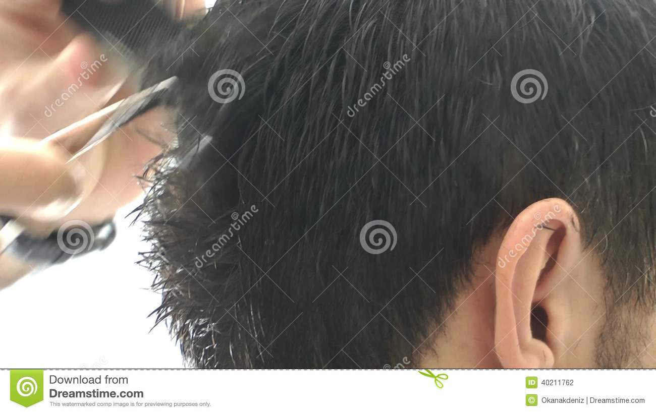 Hair Cut In A Barber Stock Footage Video Of Head Design 40211762
