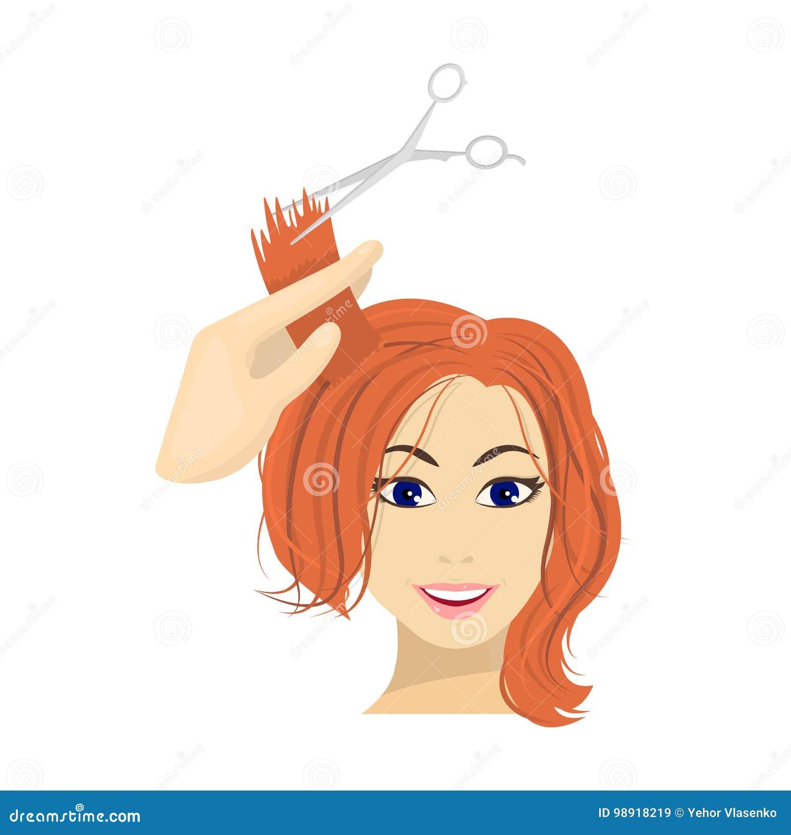 Hair Cutting Scissors Cartoon 38